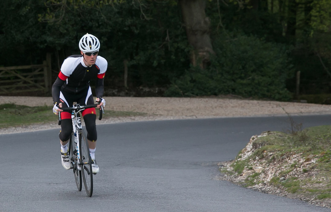 Knee warmers, arm warmers and gloves keep bulk low whilst giving extra protection.