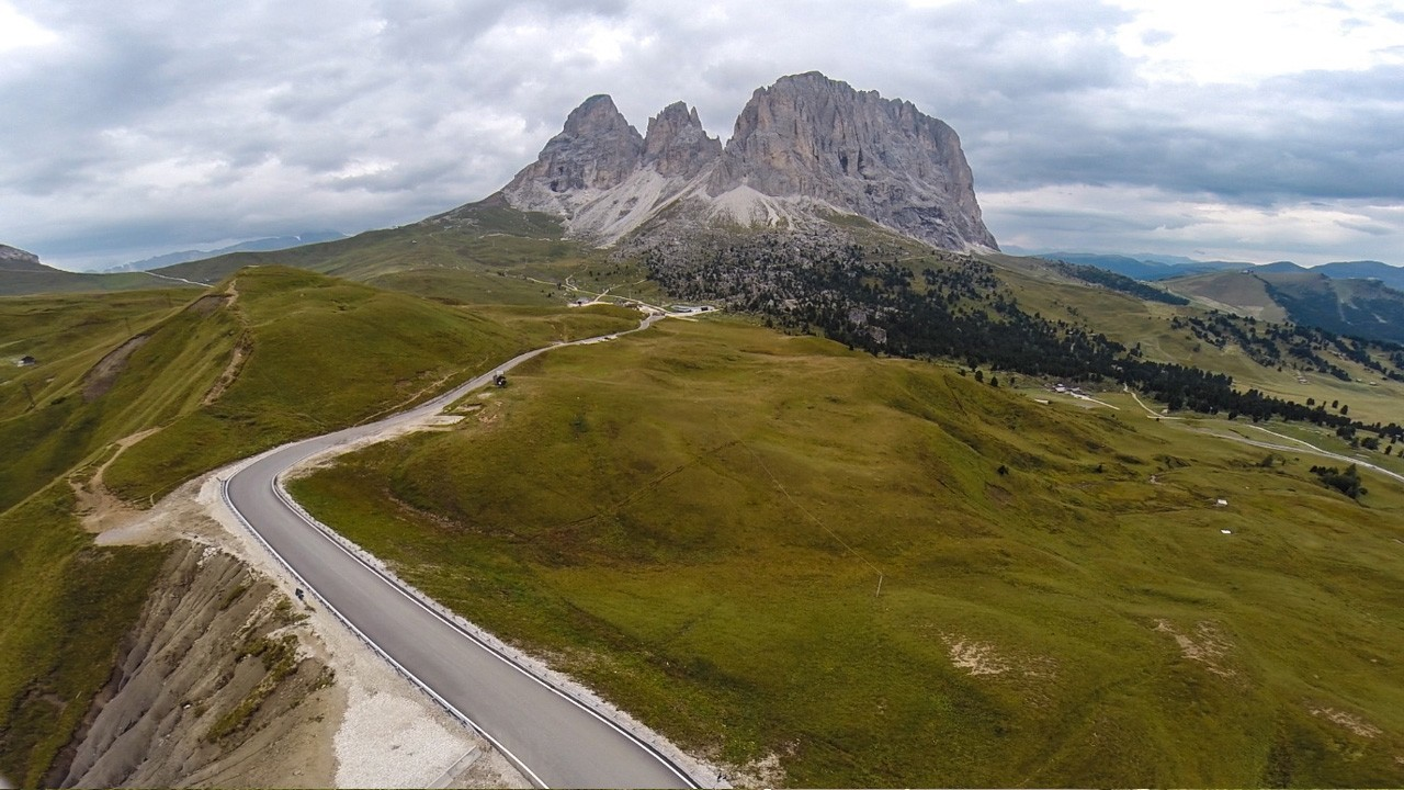 Passo Sella from Canazei